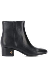 Lauren Ralph Lauren Side Zip Ankle Boots Black