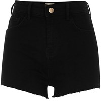 River Island Womens Black High Waisted Stretch Hot Pants