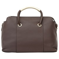 Reiss Murphey Structured Tote Bag Brown
