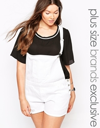 Alice And You Short Dungarees White