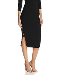 Guess Yoshi Caged Midi Skirt Black