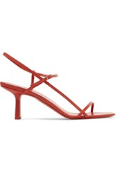 The Row Bare Leather Sandals Red