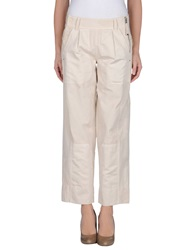 High Casual Pants Ivory