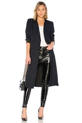 Lovers Friends Tove Wrap Coat Navy