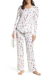 Make Model Knit Girlfriend Pajamas And Eye Mask Ivory Egret Stickers
