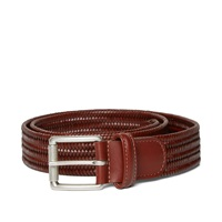 Andersons Anderson's Stretch Woven Leather Belt Brown