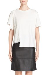 Public School Women's Lace Detail Asymmetrical Tee