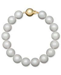 Belle De Mer Aa Cultured Freshwater Pearl Strand Bracelet 10 1 2 11 1 2Mm In 14K Gold