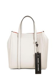 Marc Jacobs The Tag 21 Leather Tote Porcelain