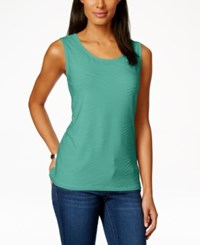 Jm Collection Scoop Neck Textured Jacquard Tank Top Only At Macy's Mermaids Tail