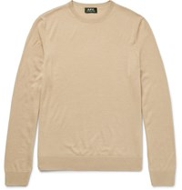 A.P.C. Merino Wool And Silk Blend Sweater Cream