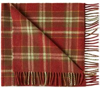 A.P.C. Large Check Scarf Red
