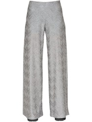 M Missoni Lurex Knit Wide Leg Pants