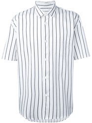 Our Legacy Striped Shortsleeved Shirt White