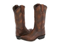 Frye Billy Pull On Dark Brown Leather Cowboy Boots
