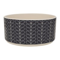 Orla Kiely Linear Stem Salad Bowl Dark Grey