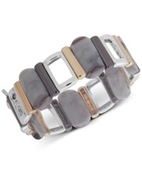 Nine West Tri Tone And Stone Stretch Bracelet Grey