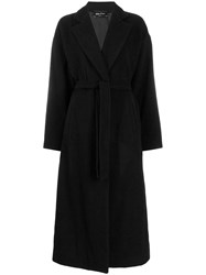 Andrea Ya'aqov Long Belted Trench Coat Black
