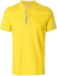 Dirk Bikkembergs Logo Patch Polo Top Yellow And Orange