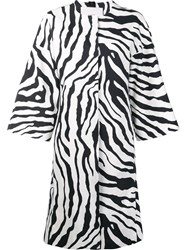 Adam By Adam Lippes Animal Print Cocoon Coat White