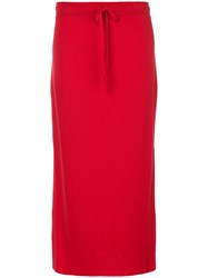 Pringle Of Scotland Casual Long Skirt Red