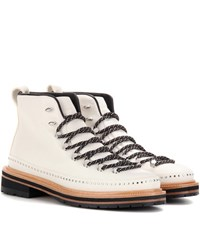 Rag And Bone Compass Leather Ankle Boots White