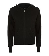 William Sharp Embellished Cashmere Hoodie Female Black