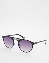 Asos Round Sunglasses With Metal Frame Black