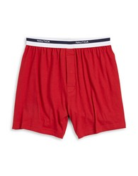 Nautica Loose Knit Boxer Red