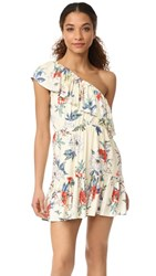 Minkpink Garden Party One Shoulder Dress Multi