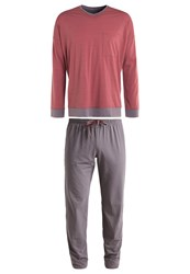 Schiesser Set Pyjama Set Rot Dark Red
