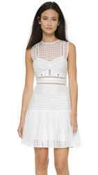 Self Portrait Pleated Minidress White
