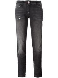 Philipp Plein 'One Two Step' Boyfriend Jeans Black
