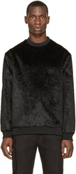 Wanda Nylon Black Faux Fur Alan Sweater