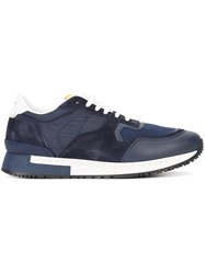 Givenchy Paneled Lace Up Sneakers Blue