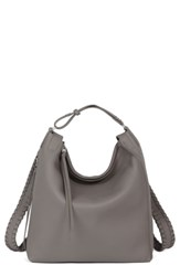 Allsaints Small Kita Convertible Leather Backpack Grey Storm Grey