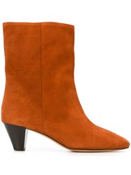 Isabel Marant Etoile 'Dyna' Boots Yellow And Orange