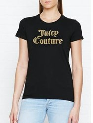 Juicy Couture Track Paisley Flourish Classic T Shirt Black