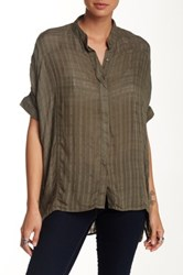 Supplies By Unionbay Checkered Gauze Dolman Sleeve Blouse Beige