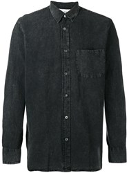 Our Legacy Buttoned Denim Shirt Grey