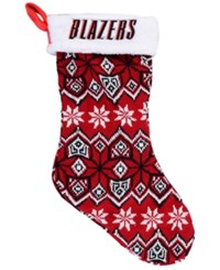 Forever Collectibles Portland Trail Blazers Ugly Sweater Knit Team Stocking Red