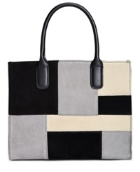 Giani Bernini Suede Patchwork Satchel Only At Macy's Black Multi