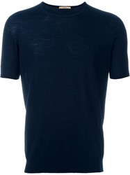 Nuur Knitted T Shirt Blue