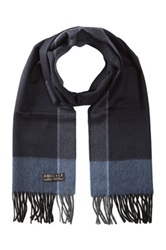 Amicale Cashmere Pattern Scarf Blue