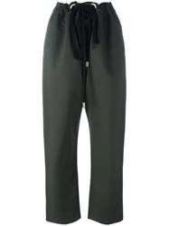 Marni Drawstring Cropped Trousers Green