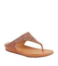 Fitflop Banda Roxy Embellished Flip Flops Female Copper