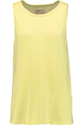 Current Elliott The Muscle Cotton Jersey Tank Yellow