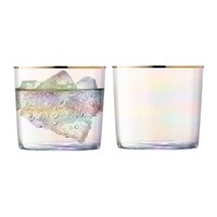 Lsa International Sorbet Tumbler Set Of 2 Nougat