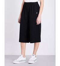 Chocoolate Wide High Rise Cotton Blend Trousers Black