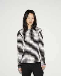 Proenza Schouler Stripe Cashmere Sweater Black